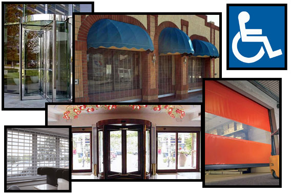 automatic and revolving doors, store gate doors